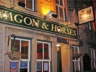 Wagon and Horses